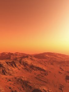 Mars Landscape Illustration