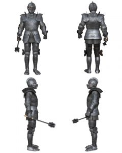 Medieval Knight Fantasy Character Set Gothic Decorated