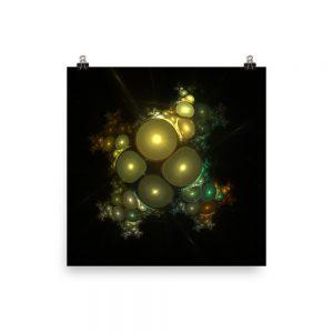 Cosmic Bubbles Fractal Design